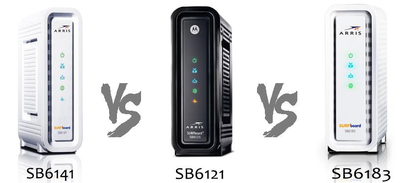 SB6141 vs SB6121 vs SB6183