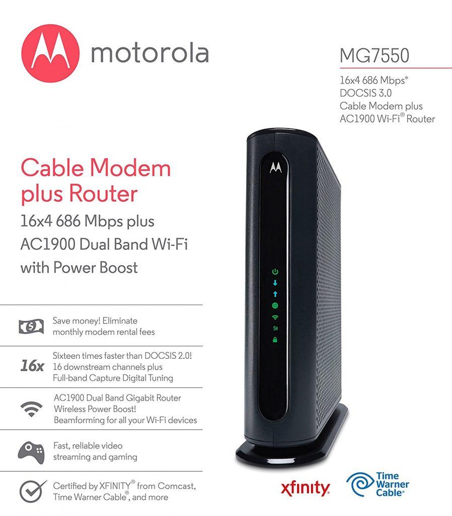 Motorola MG7550 16x4 Cable Modem